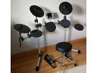 Gear 4 Music Electric Drum Kit + 4 Wooden Drumsticks + 2 LED Drumsticks
