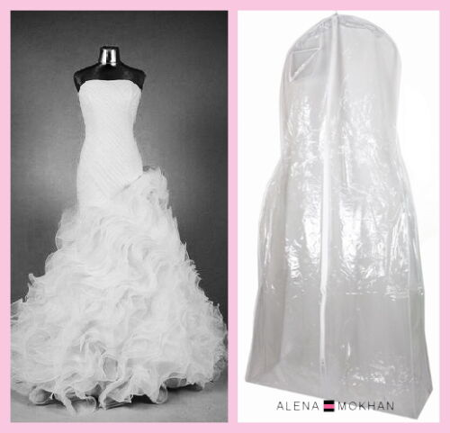 "Monster Huge Extra Large Clear Vinyl Wedding Gown Garment Bag 72"" x 36"" x 12"""