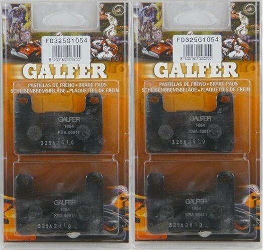 Galfer Semi-Metallic Front Brake Pads 2 Sets 2004-06 Suzuki GSX-R1000 FD325G1054
