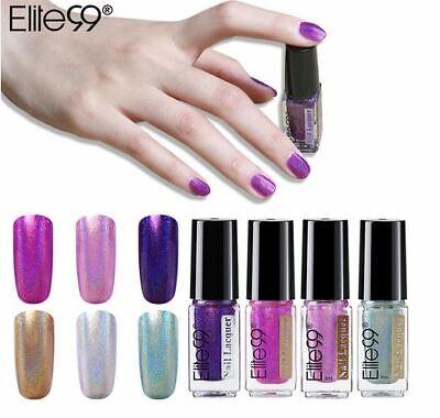 Elite99 Holographic Laser Nail Polish Varnish Diamond Colour Glitter  6ML  UK