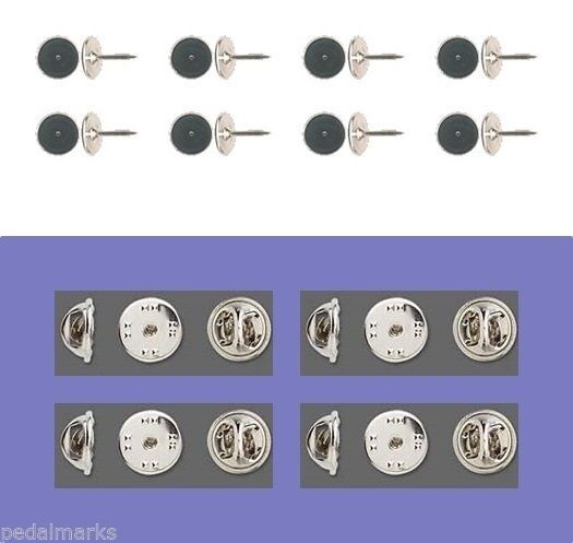 24 TIE TACKS tacs Lapel Scatter Pins  10mm pad x 9mm post + Backs  (No Nickel)