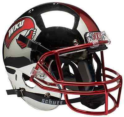 WESTERN KENTUCKY HILLTOPPERS Schutt XP REPLICA Football Helmet WKU (CHROME) Western Kentucky Football