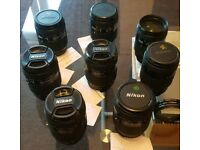 Joblot 8 x Nikon AF D 35-70mm f/2.8 D AF Lens nikkor bundle spare repairs bundle FREE uk delivery