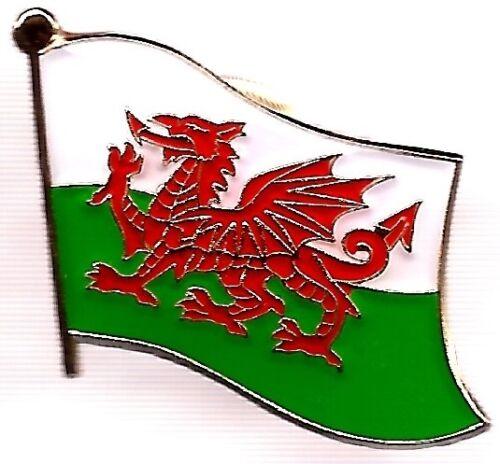 LOT OF 12 Welsh Flag Lapel Pins - Wales Flag Pin