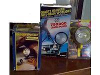 Job lot 3 Halogen lamps spotlight torch lights lamping