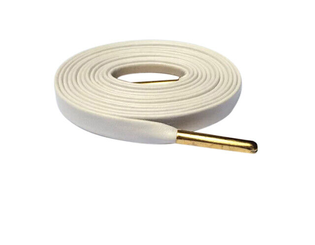 White Leather Shoe Laces Gold Aglets Luxury Shoelaces for Sneakers LACE ENVY Clothing & Shoe Care