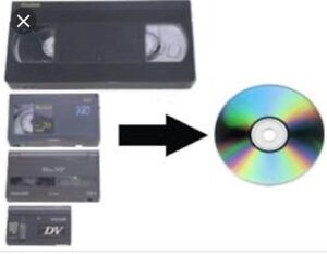we convert VHS, 8MM, Hi-8, Digital 8, Mini DV to DVD