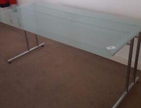 Glass Desk with Chrome Frame 1600 x 800