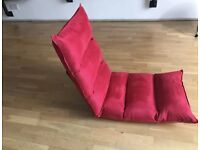 A Pair of Folding Sofa Chairs Red ideally for gamers excellent condition