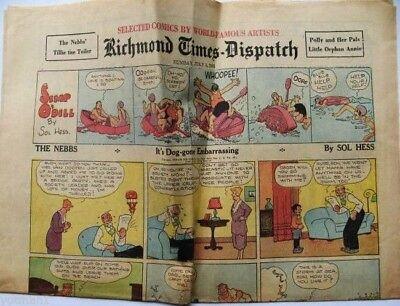 Richmond Times Dispatch Comics 7 5 1931  Orphan Annie  Nebbs  Tillie The Toiler