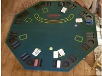Folding table top casino table/ card table/ poker game
