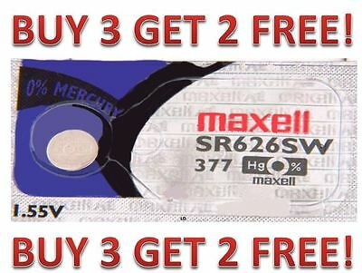 377 MAXELL WATCH BATTERIES SR626SW SR626 V377 SR66 NEW BUY 3 GET 2 FREE!!