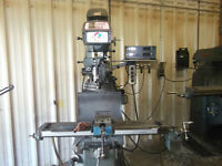 "Kondia PowerMill Milling Machine 9"" X 48"" with Digital Read out"
