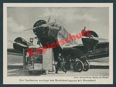 Flughafen Tempelhof Tankwagen Junkers Ju 52 D-APHR Lufthansa DLH Luftfahrt 1938