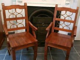 2 carver dining chairs.
