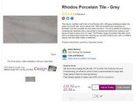Porcelin Wall or Floor Tiles - Rhodos Grey