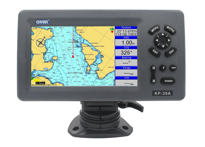 ONWA KP-39A: 7-inch GPS Chart Plotter with Class B AIS Transponder