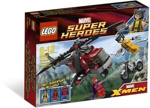 LEGO-Wolverines-Chopper-Showdown-6866-NEW-Sealed-Super-Hero-Marvel-Retired-OOS
