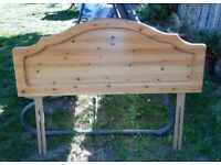 Solid pine double headboard