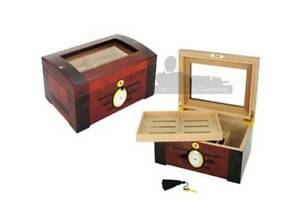 100 COUNT ELEGANT HIGH GLOSS WALNUT WOODEN CIGAR HUMIDOR Chadstone Monash Area Preview