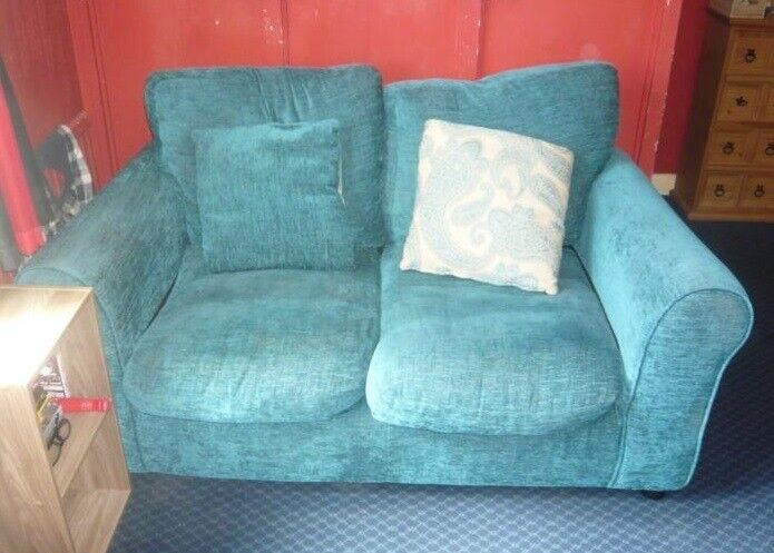 Strange Teal 2 Seater Sofa Great For Small Spaces And Bedrooms Good For Nurserys And Conservatory Ono In Brighton East Sussex Gumtree Theyellowbook Wood Chair Design Ideas Theyellowbookinfo