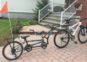 Velo Adams tandem double pliable
