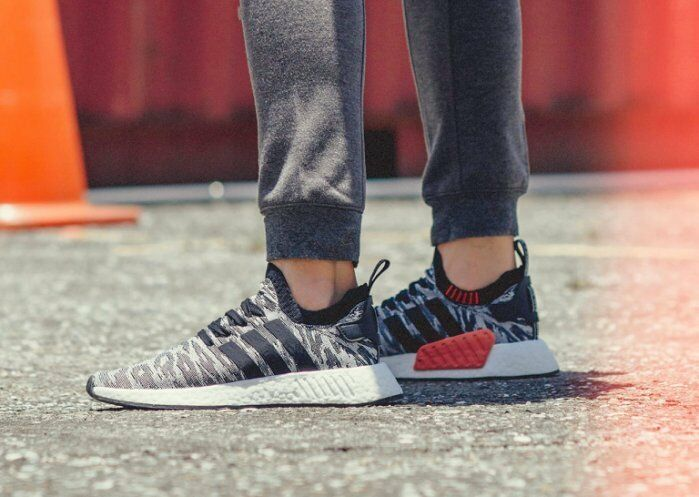 a544c31f78f4d Adidas NMD R2 PK Primeknit Future Harvest Black White Men Size 7.5-13  (BY9409