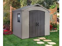 BRAND NEW KETER 8 X 6 SHED ** STILL SEALED IN BOX ** RRP£500 NOW £350