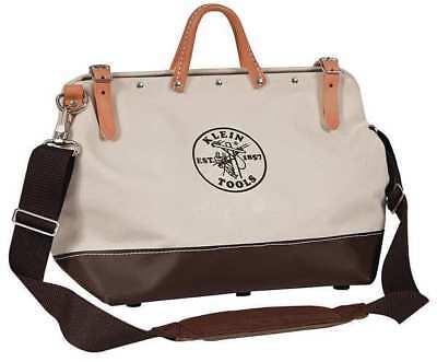 Klein Tools 18 General Purpose Tool Bag, 13 Pockets, Brown/T