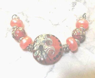 LNT- Handmade Lampwork Beads PUNPKIN SPICE Nc1882-Halloween JewelryCraft](Halloween Punpkin)