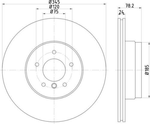 Disc Brake Rotor-High Carbon and Fully Coated Rear Hella-PAGID fits 08-15 BMW X6