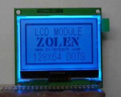 12864 128x64 Dot Matrix Graphic Cog Lcd Module Lcm Blue Screen Build-in St7565p