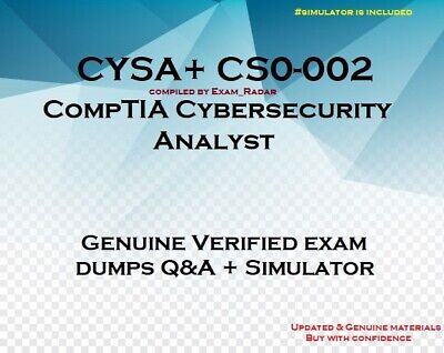CYSA+ CS0-002 Cybersecurity Analyst practice question answers and simulator