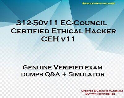 312-50v11 EC-Council Certified Ethical Hacker  CEH v11 practice exam QA + sim
