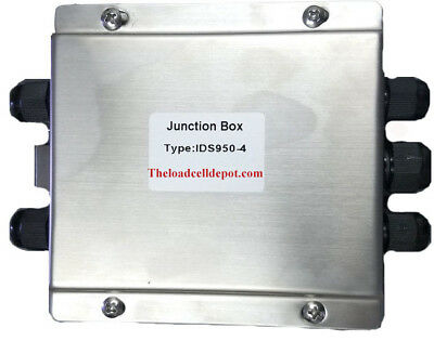 Livestock Scale Floor Scale Ids950-4 4 Way Summing Junction Box Stainless Steel
