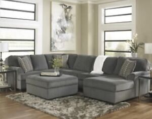 Ashley Loric 3 pc Sectional Sofa with Chaise & Ottoman