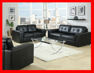 Bonded leather SOFA & LOVE Liquidation SALE @ Yvonne's Furniture