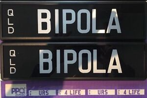Personalised plates [BIPOLA] Merrimac Gold Coast City Preview