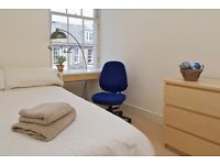 Bright and modernly-furnished double room for rent in spacious city centre flat