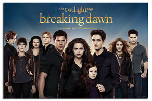 Twilight Breaking Dawn Part 2 Cast Large Wall Poster New Sealed Free UK P&P
