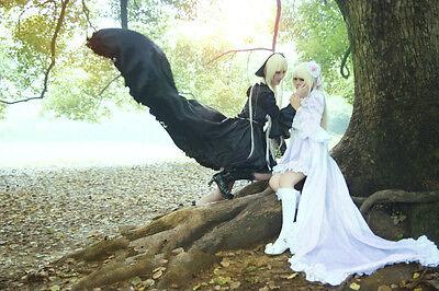 Chobits Chii Cosplay costume Kostüm Abend-kleid dress Weiss white schwarz - Chobit Chii Kostüm