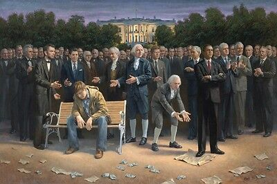 Jon McNaughton THE FORGOTTEN MAN American Freedom Patriotic 16x24 signed litho