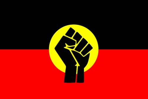 Aboriginal Indigenous Black Lives Matter Flag 60 by 90cms! (NO STICK/POLE)