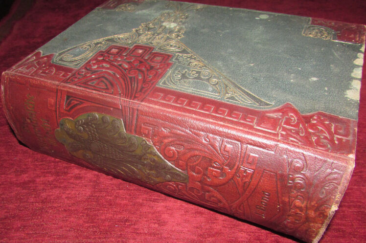 A beautifully decorated, blindstamped and giltstamped leather binding