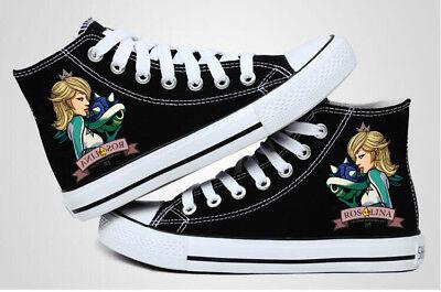 Rosalina Mario Kart Cosplay canvas shoes shoes High canvas - Mario Kart Cosplay