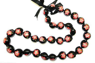 NEW Hawaii Wedding / Graduation Kukui Nut Lei Luau Hula Jewelry Necklace ~ 29006
