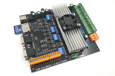 New 4axis Stepper Motor Controller Driver Board 3.5a24v For Sd Card Mpg Usb Cnc