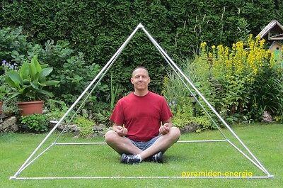 Meditationspyramide 3 Pyramidenenergie , Orgon Rohr Energie Pyramide , 2 Meter