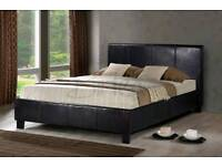 Faux leather bed frame (double) x27