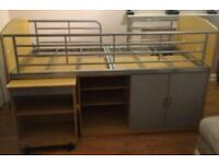 Great space saver Child's cabin bed with storage.